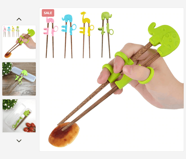 Teaching Kids How To Use Portable Cartoon Chopsticks
